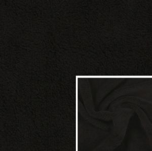 Jet Black Anti-Pilling Polar Fleece Plain Polyester Fleece FDY 150d/96f KFE-022