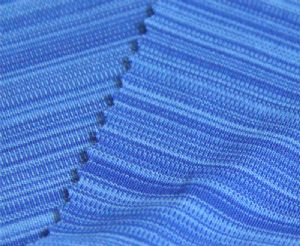 Anti-UV interlock mix-color stripe 100% polyester fabric KKF-053