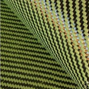 Aramid 1500d Carbon 3K Fiber 195gsm 2/2 Twill Weave Fabric|Carbon Kevlar Hybrid Cloth SCA-007