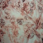 Beautiful Floral Printed Polyester Brushed Fabric PFF-022