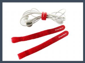 Beautiful q type hook and loop cable tie,red