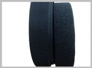 38Mm Black Fire Retardant Hook And Loop Tape thick velcro straps Magic Fasteners For Coveralls