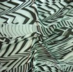 Black Stripe Printed Polyester Brushed Fabric PFF-023