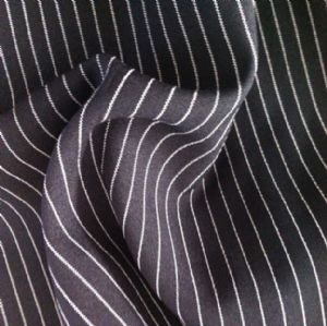 Black strip mini matt fabric for work clothes and trousers OOF-069