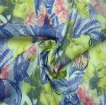 Blue Floral Underwear Jacquard Fabric Printed Elasticated PFF-009