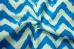 Blue and White Stripe Printed Lycra Fabric SSF-010