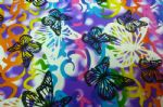 Butterfly Printed Nylon Spandex Swimwear Fabric SSF-007