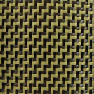 Aramid Carbon Fiber 3K W Pattern Weave Fabric 195gsm|Carbon Kevlar Hybrid Cloth SCA-008