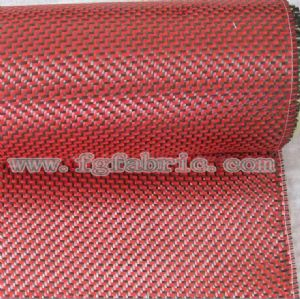 Carbon 3K Aramid 1500 Denier Fiber Hybrid Woven 195gsm Fabric|Carbon Kevlar W Pattern Weave Cloth SCA-004