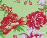 China Red Peony Knitted Swimsuit Fabric SSF-033