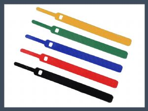 China made pin type hook and loop cable tie,colours
