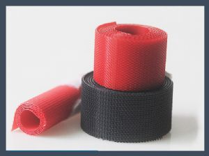China manufactory No.21 injection hook red velcro tape (fine double hook)