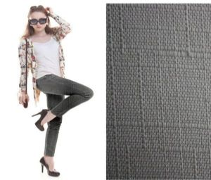 Close-fitting slub trousers fabric PF-004