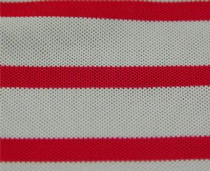 Cooldry cationic polyester pique mesh color stripes fabric MF-081