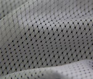 Diamond mesh warp knit 100% polyester fabric for sportswear MF-064