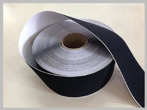 Black Soft Thin Double Sided velcro history Self Adhesive Hook And Loop Tape Roll With Glue