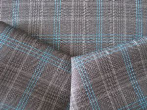 Double line plaid wool-like cloth MSF-024