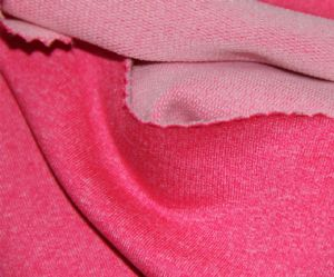 Dry fit sport fabric|wicking polyester spandex French terry KKF-002
