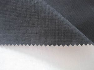 Elastic plaid pongee composite cloth JCF-032