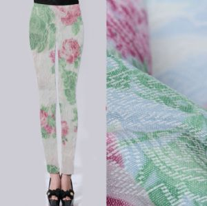 Elasticity printed jacquard fabric for pants PF-024