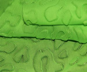 Embossed face polyester spandex mesh fabric MF-076