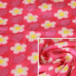 FDY 150d/96f 100%Polyester Floral Printed Polar Fleece,Blanket Fabric KFE-015