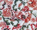 Flower Floral Printed Nylon Spandex Fabric PFF-058