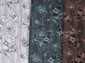 Flower printed coating taslon cloth JSJ-020