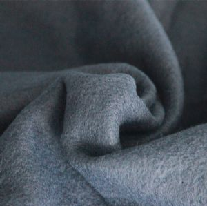 Double-Sided Velvet Plain Dyed Fleece Solid Dyed Polyester Fleece Gray Polar Fleece Fabric KFE-005