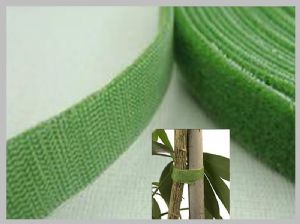 Green Double Sided Hook And Loop Tape , Sticky hook loop tape custom printed