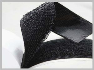 Heavy duty double sided Sticky Hook And Loop fastener tape velcro suppliers johannesburg 25mm in Black colour