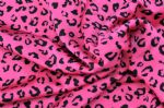 High elastic shining leopard printed fabric PLF-019