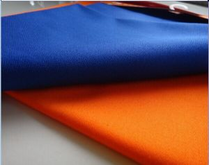 ASTMF1506 fluorescent YELLOW ORANGE fabric|high quality hi vis anti-static fabric used workwear SAR-026