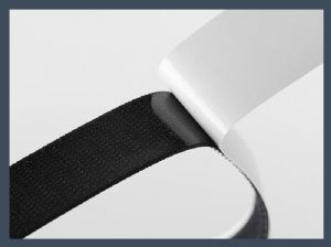 High quality high temperature plastic velcro tape resistant back glue hook and loop,blending
