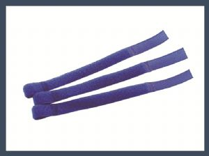 High quality q type hook and loop cable tie,blue