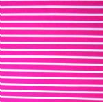 Hot Pink and White Narrow Stripe Swimsuit Fabric PPF-013