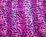 Knitted leopard swimwear printed fabric PLF-021