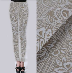 Lace printed twill fabric for pants PF-064