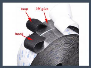 Made in china 3M adhesive hook and loop,blending