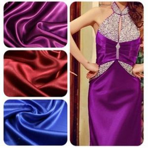 Matte stretch satin fabric for evening dress DF-122