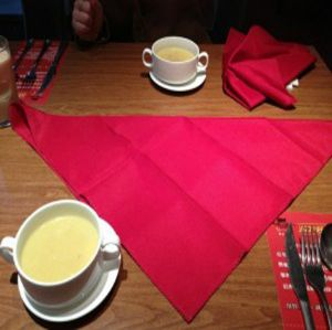 Mini matt table napkin cloth for Steak shop HLF-040