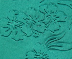 New surface embossed interlock spandex polyester fabric KKF-049