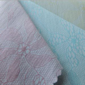 Pearl lace printed fabric PF-035