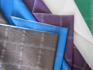Plaid interweave taslon cloth JSJ-056