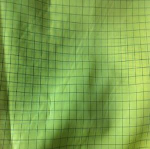 Plaid polyester uniform fabric conductive SSR-030