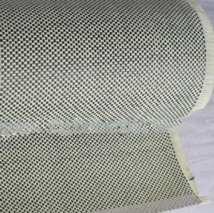 Carbon(3K) Aramid 1500 Denier Fiber Mixed Woven Fabric 195g/m2|Plain Pattern Weave Kevlar Carbon Cloth CAH-001