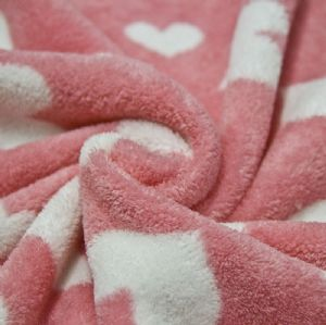 Hot Sale 100% Polyester Coral Fleece Fabric KFE-039