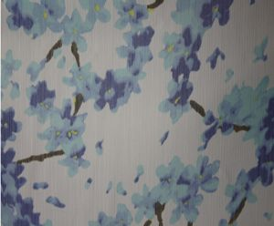 Fresh print polyester crepon fabric for dress DF-026