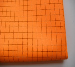 100% polyester esd conductive fabric for lab coat SSR-012