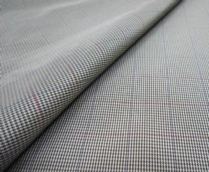 Polyester imitation memory twill yarn dyed fabric CWC-057